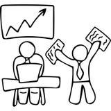 Board meeting hand drawing illustration Royalty Free Stock Photo