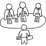 Board meeting hand drawing illustration Royalty Free Stock Photography
