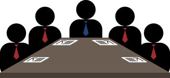 Board meeting. A vector illustration showing a board meeting in a corporate environment Stock Photography