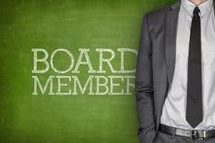Board member on blackboard Royalty Free Stock Image