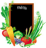 Board menu. With a group of vegetables Royalty Free Stock Images