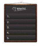 Board_menu. Restaurant menu bulletin board with chalk stroked numbers Royalty Free Stock Image