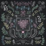 Board Menu Hand Sketched Rustic Floral Doodle Stock Photo