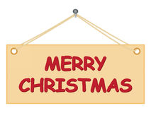Board with Merry Christmas congratulation Stock Photo