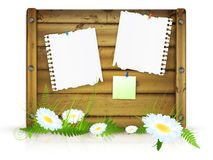 Board for messages Royalty Free Stock Image