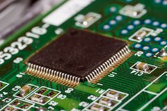 Board with microchip Royalty Free Stock Images