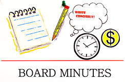 Board minutes Stock Photography