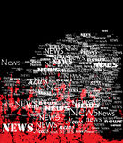 Board of news. Royalty Free Stock Images
