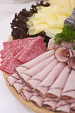 Board Of Ham And Meat Slices Royalty Free Stock Photography