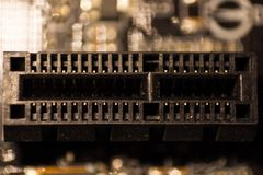 On board with pci-e connector for mining royalty free illustration