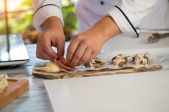 Board with pieces of meat. Stock Photography