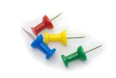 Board pins Stock Photos