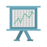 Board presentation chart financial. Illustration eps 10 Stock Image