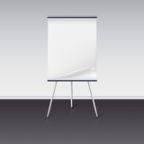 Board for presentations with sheet of paper stand Royalty Free Stock Images