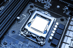 Board with processor Royalty Free Stock Photography