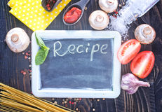 Board for recipe Royalty Free Stock Photography