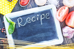 Board for recipe Stock Image