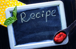 Board for recipe Royalty Free Stock Image