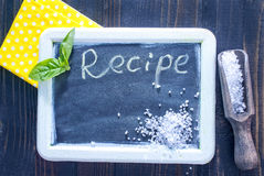 Board for recipe Stock Photography