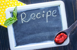 Board for recipe Royalty Free Stock Photos