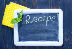Board for recipe Royalty Free Stock Images