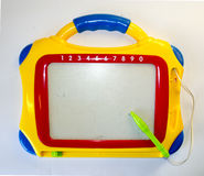 Board recording - children's toy , magnetic Board, place for tex Royalty Free Stock Photo