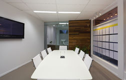 Board room. Small board room or meeting room in new office Royalty Free Stock Images
