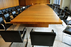 Board Room. A big board room in a modern office building Royalty Free Stock Photo