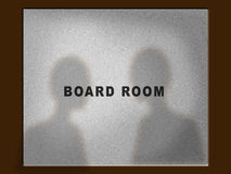 Board room door Royalty Free Stock Image