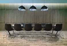 Board Room. Room of negotiation at office Royalty Free Stock Images