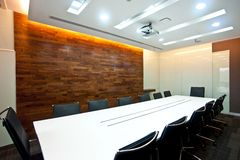 Board room series 01. Business meeting room or board room interior Stock Image