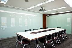 Board room series 04. Business meeting room or board room interior Stock Images