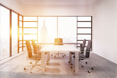 Board room with sun light Royalty Free Stock Image