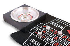 Board roulette. On white background Stock Image