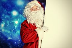 Board and santa Stock Photography