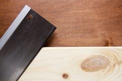 Board sawn handsaw Stock Photo
