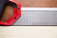 Board sawn handsaw Royalty Free Stock Images