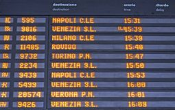 Board schedules of departures Stock Image