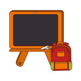 Board school with briefcase with handle Stock Photos