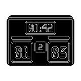 Board with a score of football.Fans single icon in black style vector symbol stock illustration. Stock Photo