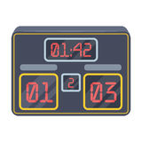 Board with a score of football.Fans single icon in cartoon style rater,bitmap symbol stock illustration. Royalty Free Stock Photography