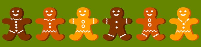 Board Seamless Gingerbread Stock Images