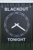 Board showing the Blackout Time Stock Photography