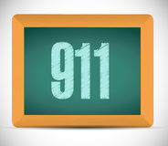 911 board sign concept. Illustration design over white Royalty Free Stock Images