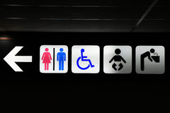 Board sign,Restroom, Toilet sign stock photos
