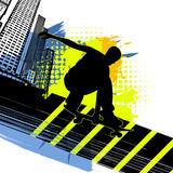 Board skater abstract background Stock Photos