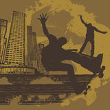 Board skater abstract background Stock Photo