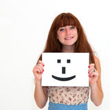 Board Smile face sign Royalty Free Stock Images