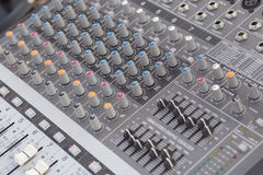 Board sound mixer Royalty Free Stock Images