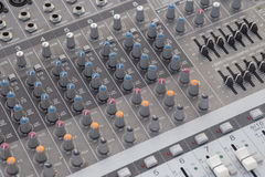 Board sound mixer Stock Image